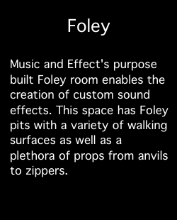 Services: Foley