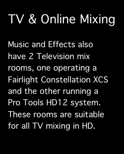 Services:  TV Mixing